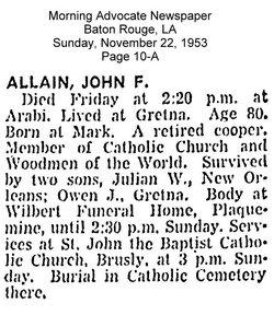 John Francis Allain