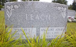 Angeline Ella <i>Adams</i> Leach