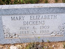 Mary Elizabeth Dickens