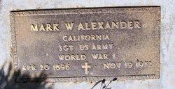 Sgt Mark W Alexander