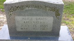 Alice <i>Davis</i> Abernathy