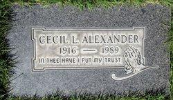 Cecil L Alexander