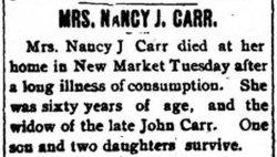 Nancy Jane <i>Amick</i> Carr