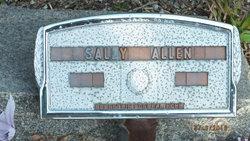 Sarah Tenie Sally <i>Chancey</i> Allen
