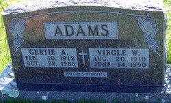 Gertie A. <i>Faught</i> Adams