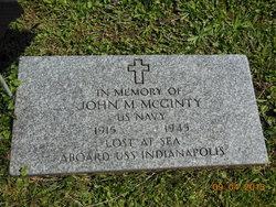 John M McGinty