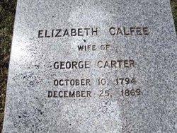 Elizabeth Betsy <i>Calfee</i> Carter