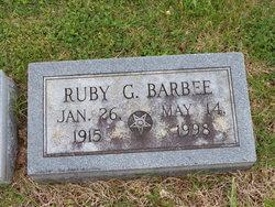 Ruby G. <i>Hargett</i> Barbee