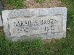 Sarah A <i>Williams</i> Brown