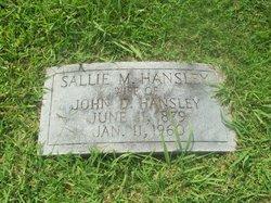 Sallie <i>Moody</i> Hansley
