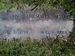 Lillian <i>Barksdale</i> Adams