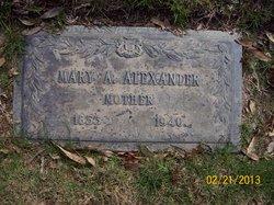 Mary A. <i>Phillips</i> Alexander