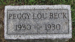 Margaret Louise Peggy Lou Beck