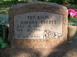 Johnny Everett Erickson