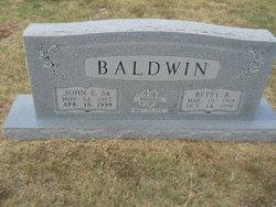 John Edward Baldwin, Sr