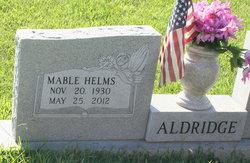 Mable <i>Helms</i> Aldridge