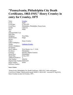 Henry Cromley, Jr