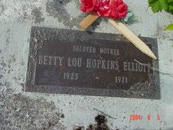 Betty Lou <i>Hopkins</i> Elliott