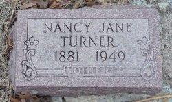 Nancy Jane Jannie <i>Beckner</i> Turner