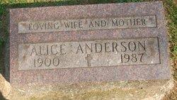 Alice <i>Foss Turner</i> Anderson