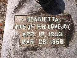 Henrietta <i>McKenzie</i> Lovejoy