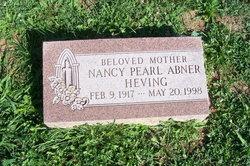 Nancy Pearl <i>Abner</i> Heving