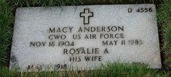Rosalie A Anderson