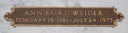 Ann Baird Weider