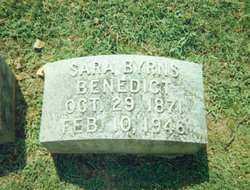 Sara Elizabeth Sallie <i>Byrns</i> Benedict