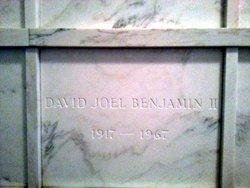 David Joel Benjamin, II