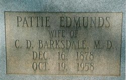 Pattie <i>Edmunds</i> Barksdale