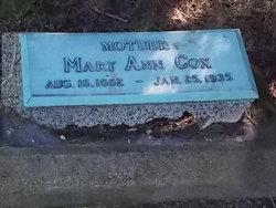 Mary Ann <i>Farren</i> Cox