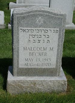 Malcolm M. Becker
