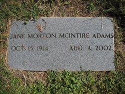 Jane <i>McIntire</i> Adams