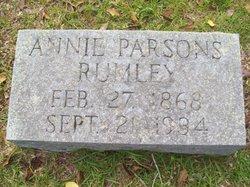 Annie <i>Parsons</i> Rumley