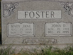 Mary Jane <i>Bishop</i> Foster