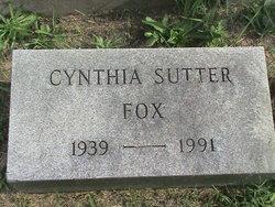 Cynthia <i>Sutter</i> Fox
