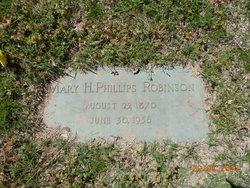 Mary H <i>Phillips</i> Robinson