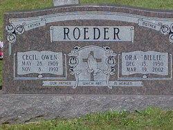 Ora Billie <i>Austin</i> Roeder