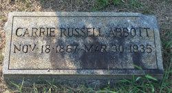 Carrie Isabel <i>Russell</i> Abbott