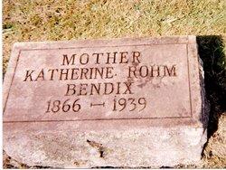 Katherine M. <i>Rohm</i> Bendix