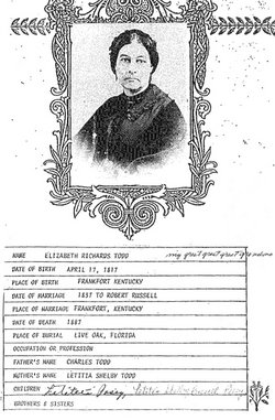 Mrs Elizabeth Richards <i>Todd</i> Russell