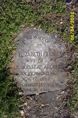 Anna Elizabeth <i>Franklin</i> Archer