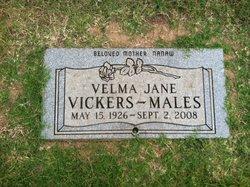 Velma Jane <i>Slayter</i> Vickers-Males