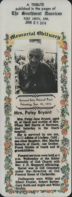 Patsy Jane <i>Ritchie</i> Bryant