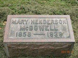 Mary <i>Henderson</i> McDowell