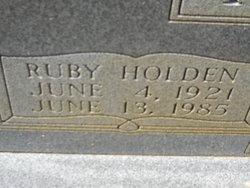 Ruby <i>Holden</i> Fitzhugh