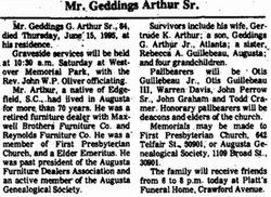 Geddings Gallman Arthur, Sr