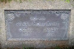 Clara <i>Hoff</i> Kunz