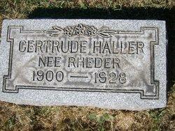 Gertrude Lillian <i>Rheder</i> Haller